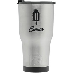 Popsicles and Polka Dots RTIC Tumbler - Silver - Engraved Front (Personalized)
