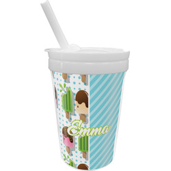 Popsicles and Polka Dots Sippy Cup with Straw (Personalized)