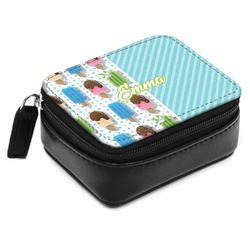 Popsicles and Polka Dots Small Leatherette Travel Pill Case (Personalized)