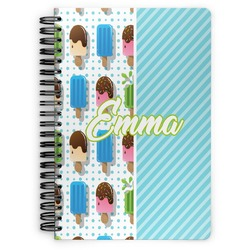Popsicles and Polka Dots Spiral Bound Notebook (Personalized)