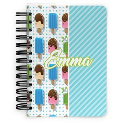 Popsicles and Polka Dots Spiral Bound Notebook - 5x7 (Personalized)