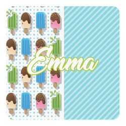 Popsicles and Polka Dots Square Decal (Personalized)