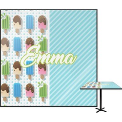 """Popsicles and Polka Dots Square Table Top - 30"""" (Personalized)"""