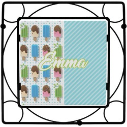 Popsicles and Polka Dots Square Trivet (Personalized)
