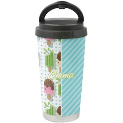 Popsicles and Polka Dots Stainless Steel Travel Mug (Personalized)
