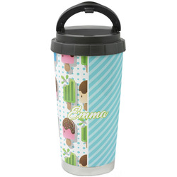 Popsicles and Polka Dots Stainless Steel Coffee Tumbler (Personalized)