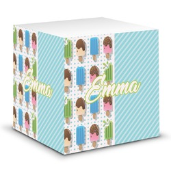 Popsicles and Polka Dots Sticky Note Cube (Personalized)