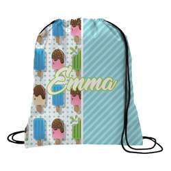 Popsicles and Polka Dots Drawstring Backpack (Personalized)