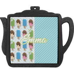 Popsicles and Polka Dots Teapot Trivet (Personalized)