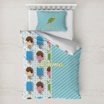 Popsicles and Polka Dots Toddler Bedding w/ Name or Text