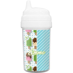 Popsicles and Polka Dots Toddler Sippy Cup (Personalized)