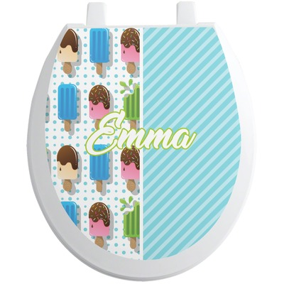Popsicles and Polka Dots Toilet Seat Decal (Personalized)