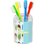 Popsicles and Polka Dots Toothbrush Holder (Personalized)