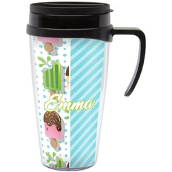 Popsicles and Polka Dots Travel Mug with Handle (Personalized)