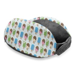 Popsicles and Polka Dots Travel Neck Pillow (Personalized)