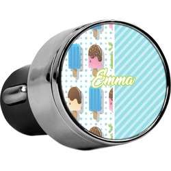 Popsicles and Polka Dots USB Car Charger (Personalized)