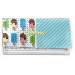 Popsicles and Polka Dots Vinyl Checkbook Cover (Personalized)