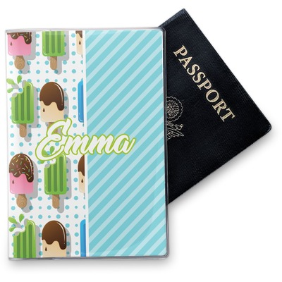 Popsicles and Polka Dots Vinyl Passport Holder (Personalized)