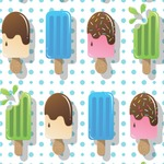 Popsicles and Polka Dots Wallpaper & Surface Covering