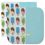 Popsicles and Polka Dots Facecloth / Wash Cloth (Personalized)