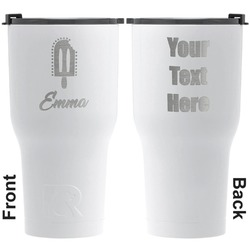 Popsicles and Polka Dots RTIC Tumbler - White - Engraved Front & Back (Personalized)