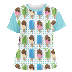 Popsicles and Polka Dots Women's Crew T-Shirt (Personalized)