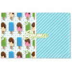 Popsicles and Polka Dots Woven Mat (Personalized)