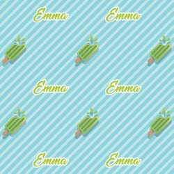 Popsicles and Polka Dots Wrapping Paper (Personalized)