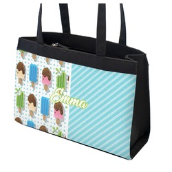 Popsicles and Polka Dots Zippered Everyday Tote w/ Name or Text