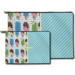 Popsicles and Polka Dots Zipper Pouch (Personalized)