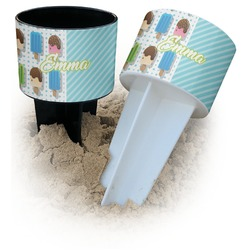Popsicles and Polka Dots Beach Spiker Drink Holder (Personalized)