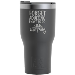 Camping Quotes & Sayings RTIC Tumbler - Black (Personalized)