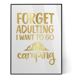 Camping Quotes & Sayings (Shape) Foil Print (Personalized)