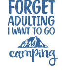 Camping Quotes & Sayings (Shape) Glitter Sticker Decal - Custom Sized (Personalized)