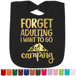 Camping Quotes & Sayings (Shape) Foil Baby Bibs (Select Foil Color) (Personalized)