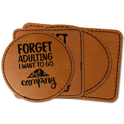 Camping Quotes & Sayings Faux Leather Iron On Patch