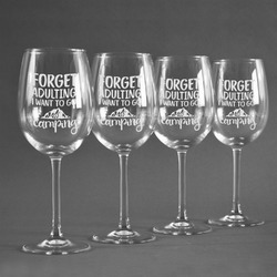 Camping Quotes & Sayings (Shape) Wine Glasses (Set of 4) (Personalized)
