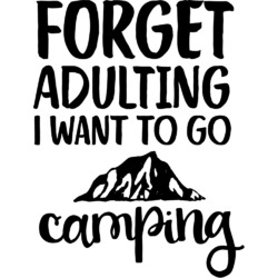Camping Quotes & Sayings (Shape)