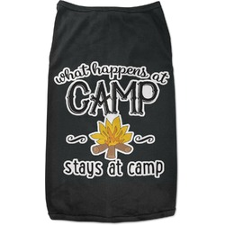 Camping Sayings & Quotes (Color) Black Pet Shirt (Personalized)