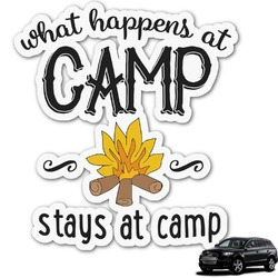 Camping Sayings & Quotes (Color) Graphic Car Decal (Personalized)