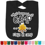 Camping Sayings & Quotes (Color) Baby Bib - 14 Bib Colors (Personalized)