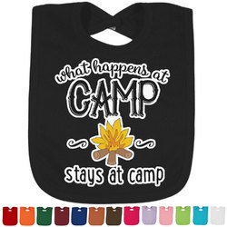 Camping Sayings & Quotes (Color) Bib - Select Color (Personalized)