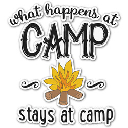 Camping Sayings & Quotes (Color) Graphic Decal - Custom Sizes