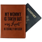 Aunt Quotes and Sayings Leatherette Passport Holder (Personalized)
