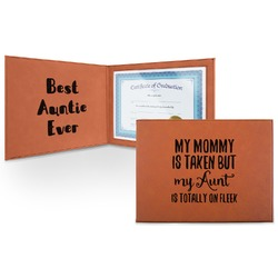 Aunt Quotes and Sayings Leatherette Certificate Holder (Personalized)