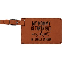 Aunt Quotes and Sayings Leatherette Luggage Tag (Personalized)