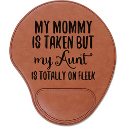 Aunt Quotes and Sayings Leatherette Mouse Pad with Wrist Support (Personalized)