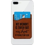 Aunt Quotes and Sayings Leatherette Phone Wallet (Personalized)