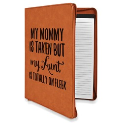 Aunt Quotes and Sayings Leatherette Zipper Portfolio with Notepad (Personalized)