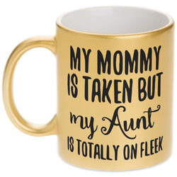 Aunt Quotes and Sayings Gold Mug (Personalized)